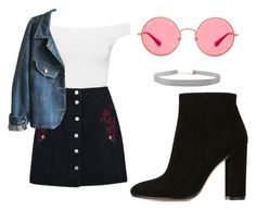 """Sin título #586"" by immoverthemoon on Polyvore featuring moda, WearAll, Gianvito Rossi, Boohoo, Ray-Ban y Humble Chic"