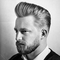 The Pompadour Haircut for Men. Inspirational the Pompadour Haircut for Men - Manly Cutthroat Haircut. 25 Pompadour Hairstyles and Haircuts Pompadour Style, Modern Pompadour, Pompadour Fade, Hipster Haircuts For Men, Hipster Hairstyles, Hair And Beard Styles, Curly Hair Styles, Corte Social, Slick Back Haircut