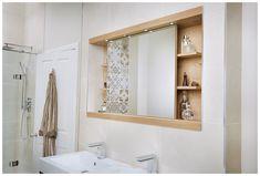 Minimalist mirror cabinet from Utopia Bathrooms.