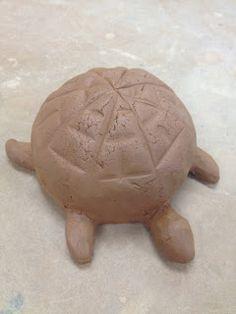 Rachel Dorn Ceramic Sculpture: techniques Turtle rattle
