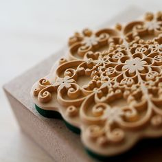 beautiful lace rubber stamp