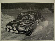 Saab 99 EMS Rally Sweden... in it's native habitat.