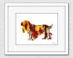 Cocker Spaniel print dog print dog art print by FluidDiamondArt