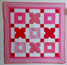 Valentine Hugs and Kisses Wall Quilt Table by ForgetMeNotQuilteds, $50.00