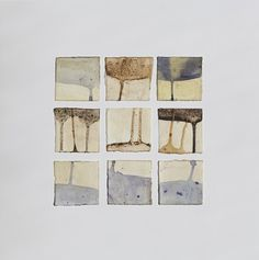 Tessa Grundon (EEUU) Plant material, raw beeswax and earth from Wave Hill on paper Wave Hill, Waves, Earth, Artwork, Plants, Work Of Art, Flora, Ocean Waves, Wave