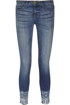 Current/Elliott The Cut Off Stiletto cropped mid-rise skinny jeans