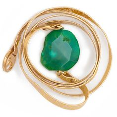 """Soft gold leather wrap bracelet with statement green agate stone. Fully adjustable, this will wrap around an average wrist approximately 4 times or more and can also be worn as a belt. Details and Dimensions: Genuine leather and agate. Wrap measures 37""""/ 94cm in length. Agate measures approximately 2"""" / 5cm in length. Please note that each agate is unique so colour and size will vary. Handmade in USA."""