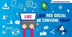 ¿Qué red social me conviene? En lo personal, profesional, por diversión, negocios...según tu necesidad te doy los tips para elegir la red social adecuada!