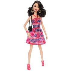 Barbie Fashionista Raquelle Doll, Pink and Purple Dress (£10) ❤ liked on Polyvore featuring barbie and toys