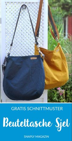 """Free pattern: Pouch """"Sjel""""- Kostenloses Schnittmuster: Beuteltasche """"Sjel"""" Free Sewing Pattern: Bucket Bag """"Sjel"""" – Oilskin Sewing Bag # Snaply bag sewing # - Source by designer Sewing Projects For Beginners, Knitting Projects, Sewing Tutorials, Diy Projects, Sewing Hacks, Sewing Tips, Bags Sewing, Sewing Patterns Free, Free Sewing"""