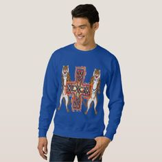 Tiger Celt Cross Men's Sweatshirt - diy cyo customize create your own personalize