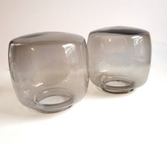 A Pair of  Modern Light Shades  Smoked Glass by TheOldHouseMaven, $30.00