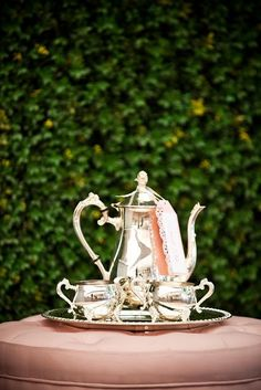 Tea Time (always special using a sterling silver tea set) ~ Ana Rosa,