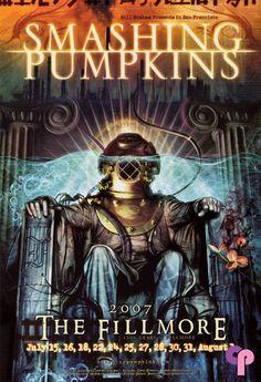 Classic Poster - Smashing Pumpkins at Fillmore Auditorium San Francisco, CA 7/15-8/1/07 by Craig Howell