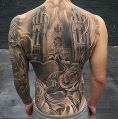 tattoorealistic on Picoji Back Tattoos For Guys, Full Back Tattoos, Full Body Tattoo, Real Tattoo, Big Tattoo, Gangsta Tattoos, Weird Tattoos, Dope Tattoos, Tatoos
