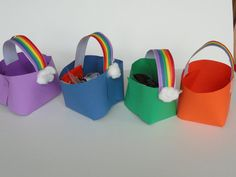 "Cute idea for party favor ""bags"""