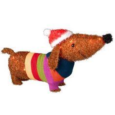 27 Christmas DACHSHUND Tinsel Lighted Inside/Outside Yard Decor Doxie Weiner Dog Holiday Decor http://smile.amazon.com/dp/B00H35BHRK/ref=cm_sw_r_pi_dp_sTmPub1DVNHN3