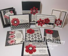 "2014 Modern Medley Card Set Class - retired Modern Medley Designer Series Paper , Bloom For You Wood-Mount Stamp Set 134345 Price: $9.95, Fun Flower Punch 133785 Price: $16.95, Venetian Crochet Trim 134581 Price: $6.95, Sassy Salutations (wood), Chalk Talk Framelits, 7/8"" Scallop Circle Punch, Boho Blossoms Punch, Pearl Jewels."