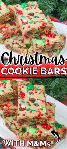 Christmas Party Snacks, Christmas Desserts Easy, Chocolate Chip Cookie Bars, Chocolate Chips, Chocolate Cake, Holiday Baking, Christmas Baking, Christmas Tea, Bar Recipes