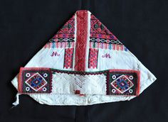 This image shows the front of a married woman's cap or bonnet from the town of Polomka (Polonka) Slovakia Folk Costume, Costumes, Married Woman, Caps For Women, Bobbin Lace, Embroidery, How To Wear, Helmets, Crowns