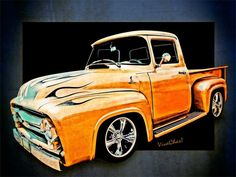 Pickup Truck from Ford and VivaChas Hot Rod Art! Click Pix to Buy Urself a Nice Print! ~;0)
