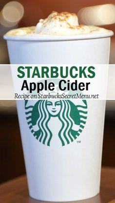 Starbucks take on the classic apple cider! Starbucks Apple Cider, Starbucks Latte, Starbucks Secret Menu Drinks, Starbucks Recipes, Starbucks Hacks, Coffee Drink Recipes, Coffee Drinks, Album Design, Smoothie Drinks