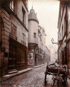 Rue Hautefeuille, Paris, about Eugene Atget Eugene Atget, Old Paris, Vintage Paris, Old Street, Paris Street, Street View, Musee Carnavalet, New Fine Arts, Berenice Abbott