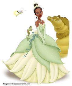 Dibujos de princesa disney Tiana para imprimir ,Tiana la princeas disney y su nueva imagen para imprimir en imagenesydibujosparaimprimir.co...