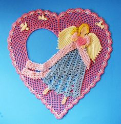 Angel of Love Doily Crochet PDF Pattern. $7.95, via Etsy.