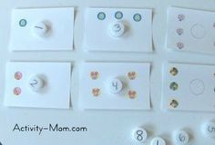 The Activity Mom: Bottle Top Numbers and Counting Cards