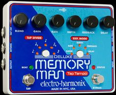 Electro-Harmonix Deluxe Memory Man w/Tap Tempo 1100 - Delay Bass Pedals, Guitar Pedals, I Can Haz, Guitar Gifts, Pedalboard, Memories, Music, Chips, Tech