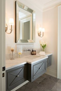 """Simple Cantilevered Vanity this is what I envisioned but curved and the face would be covered with mosaic tile on mesh back. face could be 8""""or so, this looks deeper"""
