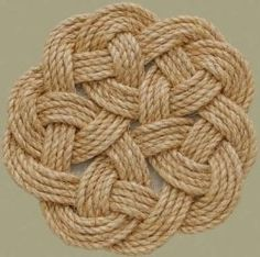 knotted mat - coasters and trivets!