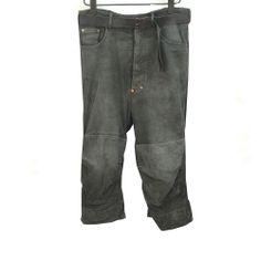 PAUL HARNDEN CHAMOIS BELTED LEATHER JEANS