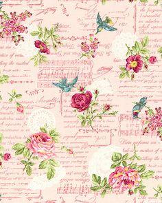 Japanese Import - Ruru Bouquet - Garden Music - Petal Pink. From eQuilter.com