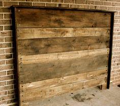upcycled barn wood headboard