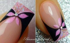 15 Diseños de Uñas con Flores - ε Diseños e Ideas originales para Decorar tus Uñas з Fancy Nails, Diy Nails, Cute Nails, Pretty Nails, Beautiful Nail Designs, Cute Nail Designs, Beautiful Nail Art, Spring Nails, Summer Nails