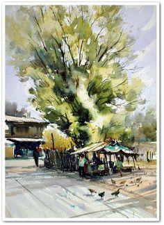 ร้านส้มตำใต้ร่มมะขามเทศ ขอนแก่น by Direk Kingnok