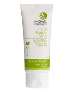 This natural fruit enzyme scrub from MyChelle is amazing. Really cleans up your skin.