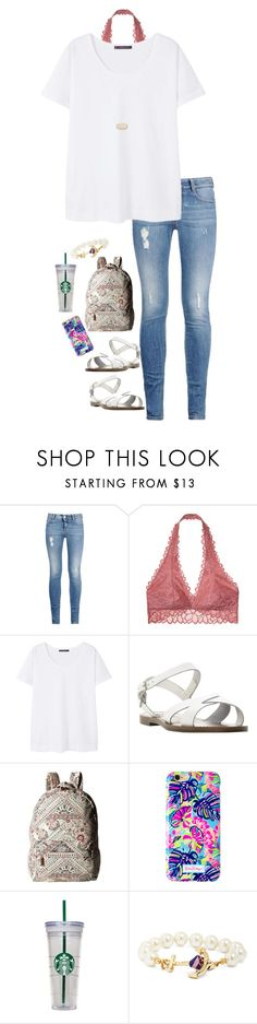 """First day of school outfit. Thoughts?"" by pandapeeper ❤ liked on Polyvore featuring STELLA McCARTNEY, Victoria's Secret, MANGO, Steve Madden, Billabong, Lilly Pulitzer, Brooks Brothers and Kendra Scott"
