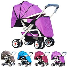 New Baby Stroller Foldable Pushchair Toddler Carriage Reversible Pram Buggy