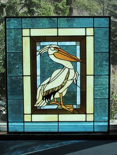 Stained Glass Pelican | eBay