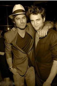 ian and rob - can life get any better than when these two are photographed together?!  WOW!