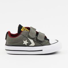 Converse Star Player 2V OX Charcoal/White/Red – mini mioche