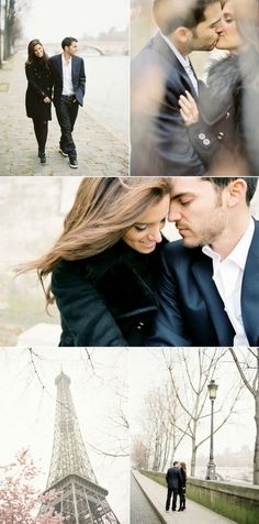 Favorite engagement photos EVER. andreanp maybe with the temple instead, seeing as I don't live in Paris.