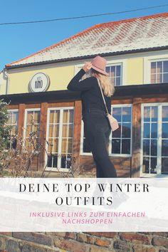 Diese Looks sind ein Must Have in den kühlen Monaten. Inklusive Links zum einfachen Nachshoppen alles Teile. Crop Pullover, Winter Outfits, Love Fashion, German, Lifestyle, Blog, Black Ankle Boots, Classic Looks, Cold