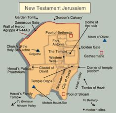 biblical times | Jerusalem Map During Time of Jesus in New Testament