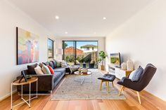 This living room is found at our Grange 25 - a DualOcc home. Located in Bentleigh, VIC.