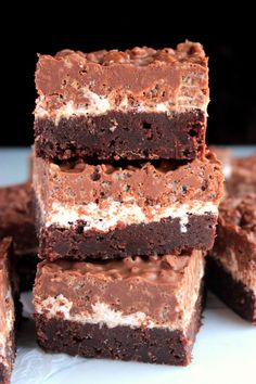 Chocolate Peanut Butter Crunch Brownies