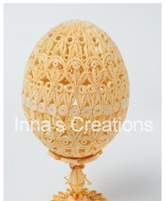 I've always been fascinated by the quilled Easter eggs found on the Internet. It's now time for me to showcase my own eggs, this one is jus...